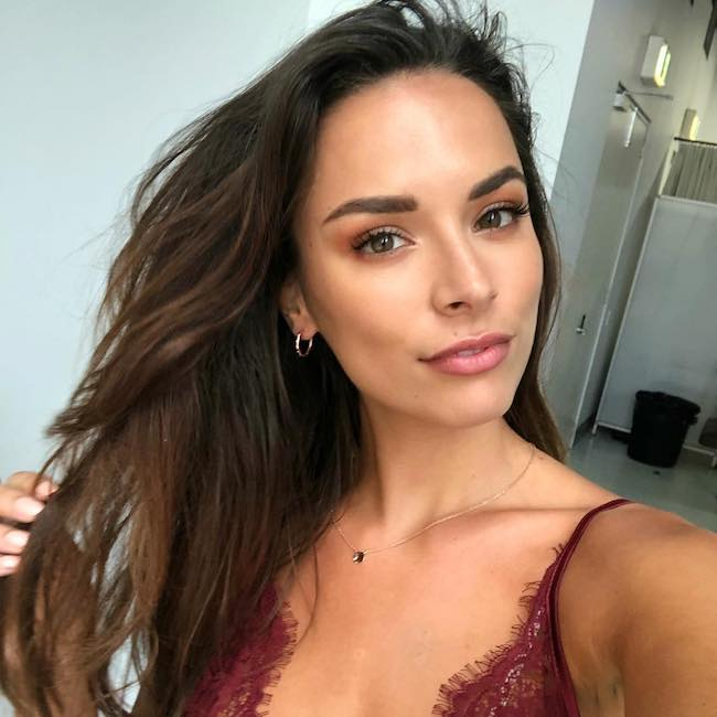 Monika Radulovic in an Instagram selfie in January 2018 on the set of NW Magazine