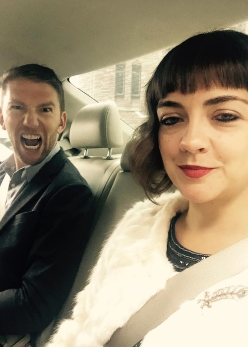Neyla Pekarek in a car-selfie with Jeff in September 2017
