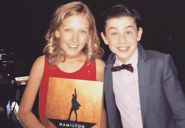 Owen Vaccaro and Morgan McGill as seen in July 2018