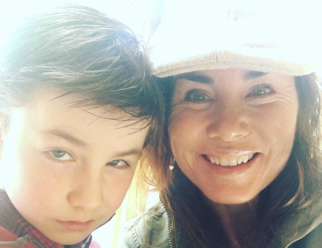 Owen Vaccaro in a selfie with his mother as seen in May 2017