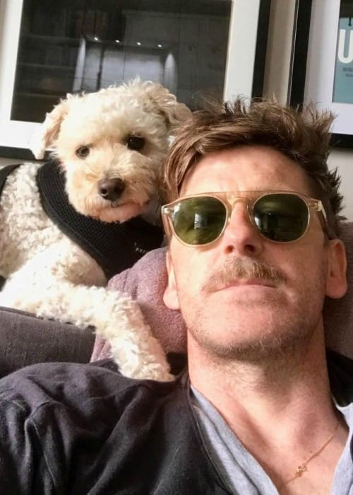 Paul Anderson in a selfie with his dog as seen in June 2017