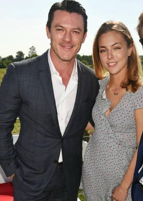 Peggy Nesbitt and Luke Evans as seen in May 2017