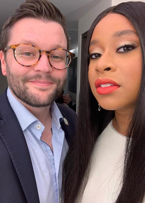Phoebe Robinson in a selfie with a friend in October 2018