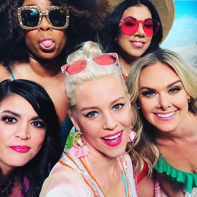 Phoebe Robinson with friends Elizabeth Banks, Cecily Strong, Laura Bell Bundy, Chrissie Fit in May 2018