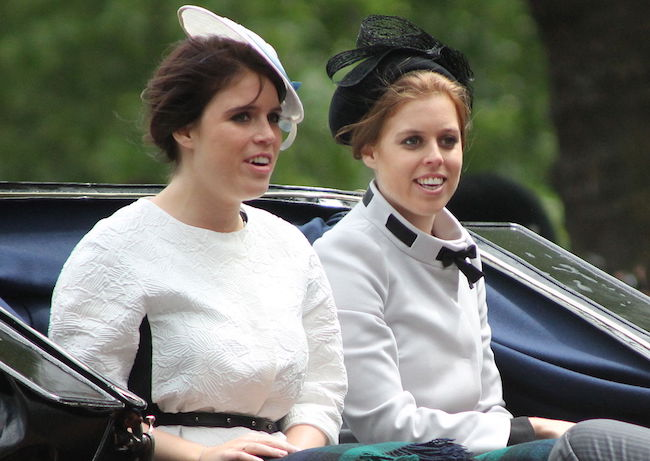 Princesses Beatrice and Eugenie at Trooping the Colour in June 2013