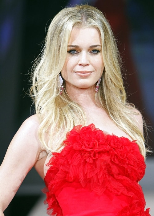 Rebecca Romijn at the 2012 Heart Truth's Red Dress Fashion Show in Marchesa