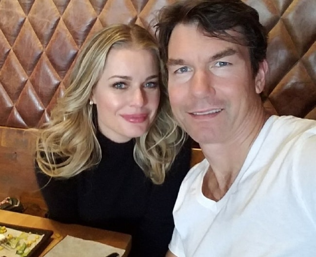 Rebecca Romijn in a selfie with Jerry O'Connell in March 2018