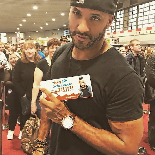 Ricky Whittle during German Comic-Con in December 2017