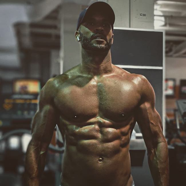 Ricky Whittle shirtless body on display in May 2018