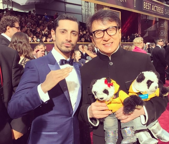 Riz Ahmed (Left) with Jackie Chan in February 2017