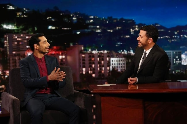 Riz Ahmed as a guest at Jimmy Kimmel Live! in April 2017