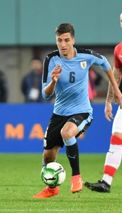 Rodrigo Bentancur during a match in November 2017