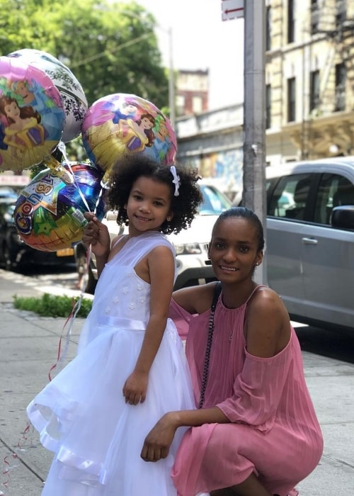 Rose Crodero with her daughter Aisha in June 2018