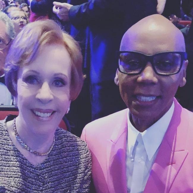 RuPaul as seen with Carol Burnett in September 2018
