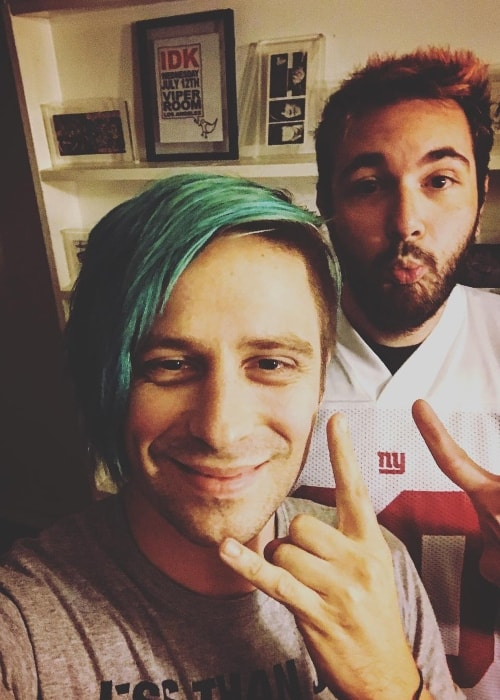 Ryan Seaman (Left) in a selfie with Mike Fishkin in July 2017
