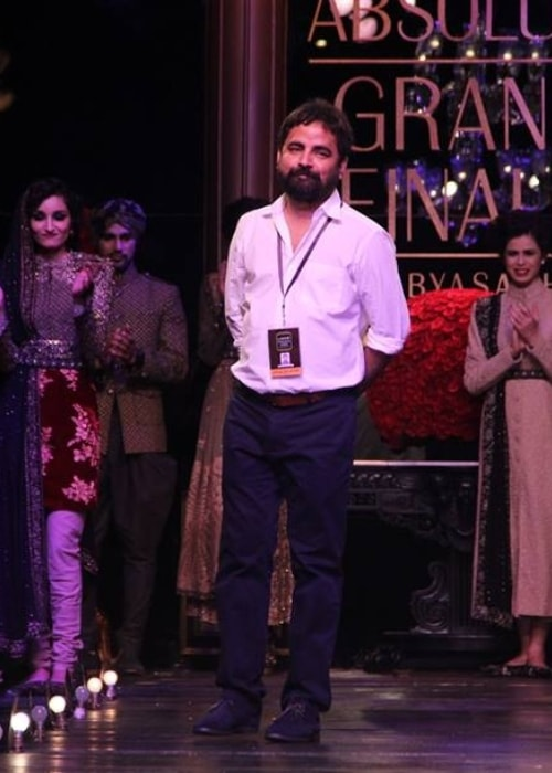 Sabyasachi Mukherjee at the Lakme Fashion Week's Grand Finale in August 2013
