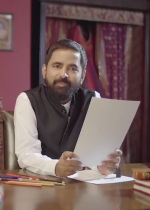 Sabyasachi Mukherjee in a still from a video in October 2018