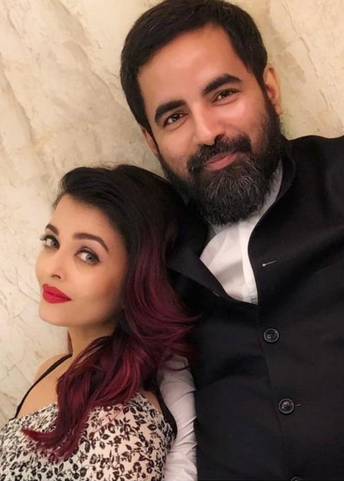 Sabyasachi Mukherjee with Aishwarya Rai Bachchan in October 2018