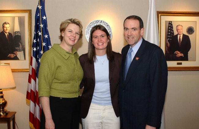 Sarah Huckabee Sanders (Center) as seen in March 2005