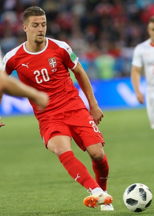 Sergej Milinkovic-Savic during a match in June 2018