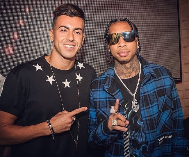 Stephan El Shaarawy (Left) with Tyga in August 2018