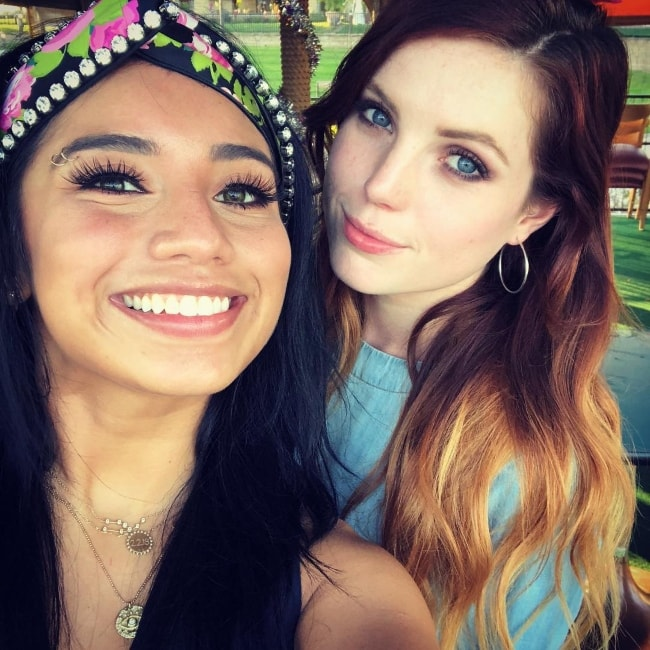Sydney Sierota (Right) in a selfie with Kirstin in September 2018