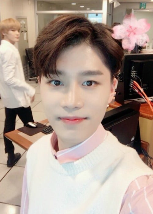 Taeil in an Instagram selfie as seen in April 2018