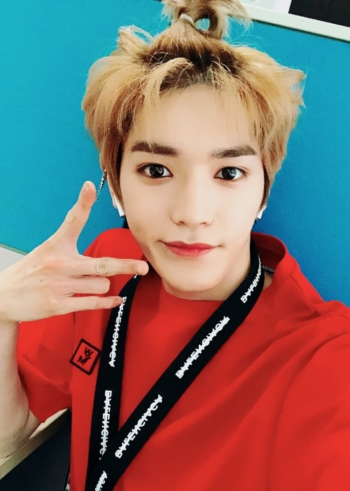 Taeyong in a selfie in April 2018