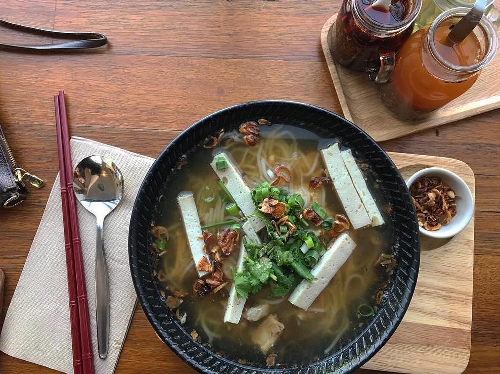Thai noodles for breakfast