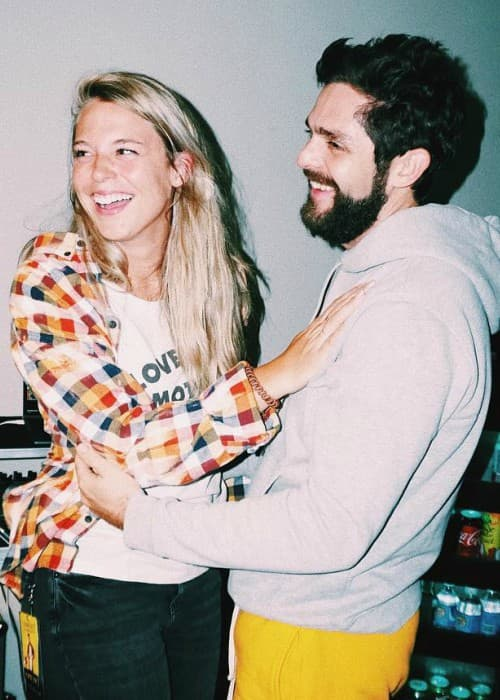 Thomas Rhett and Lauren Gregory as seen in October 2018