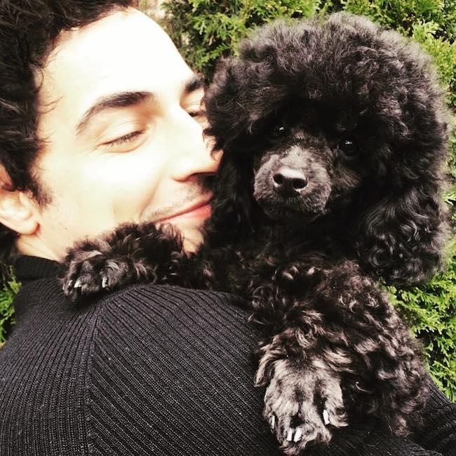 Zac Posen with his dog Tsuki in October 2018