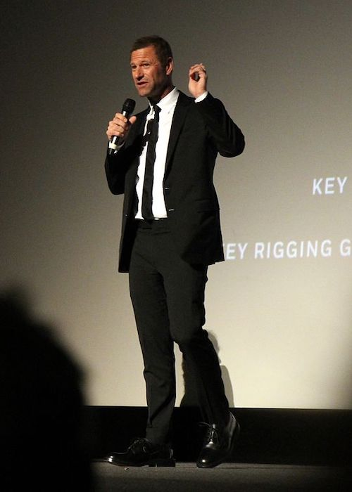 Aaron Eckhart at the London Film Festival for the Surprise Film in 2016