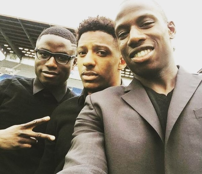 Abdoulaye Doucouré taking a selfie with Steven Moreira (Center) and Paul-Georges Ntep (Left) in April 2018