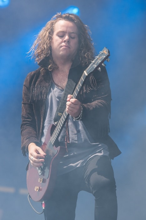 Adam Slack as seen while performing at the Rock im Park festival in June 2016