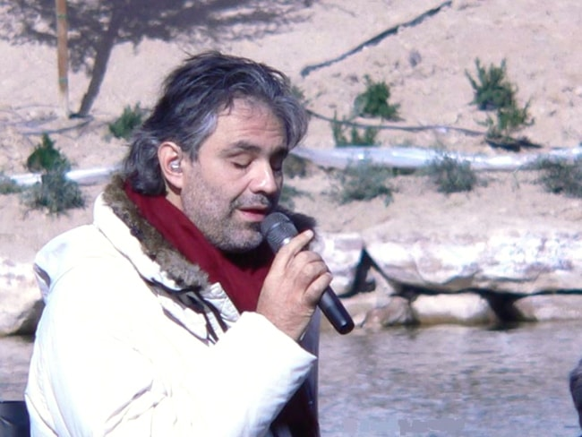 Andrea Bocelli as seen while rehearsing for his 'Under the Desert Sky' concert in Lake Las Vegas in 2006