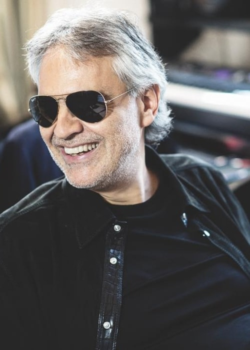 Andrea Bocelli pictured while smiling