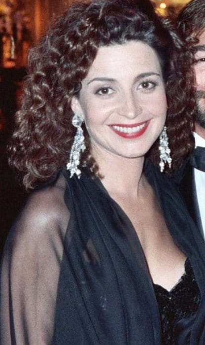 Annie Potts at the Emmy Awards in 1989