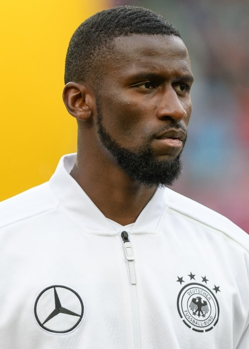 Antonio Rüdiger during a FIFA friendly match between Austria and Germany in June 2018