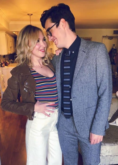 Audrey Whitby and Joey Bragg as seen in October 2018