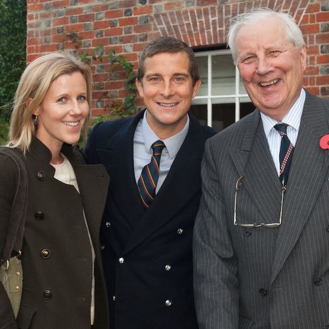 Bear Grylls with Shara Cannings Knight (Left) and uncle Andrew Myrtle (Right) as seen in May 2018