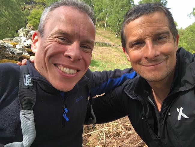 Bear Grylls with friend Warwick Davis (Left) in a picture in May 2018