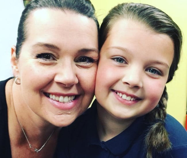 Blakely Bjerken (Right) in a selfie with her mother as seen in May 2018