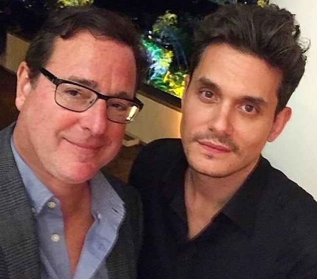 Bob Saget (Left) with John Mayer in October 2018
