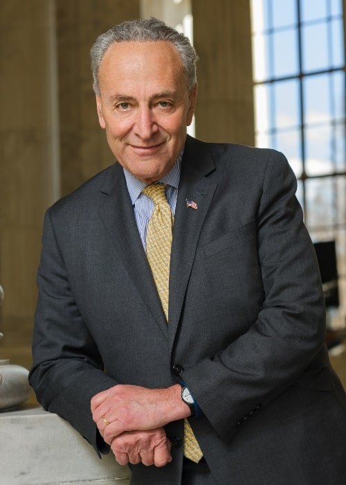 Chuck Schumer in his 2nd official Congress photo in March 2017