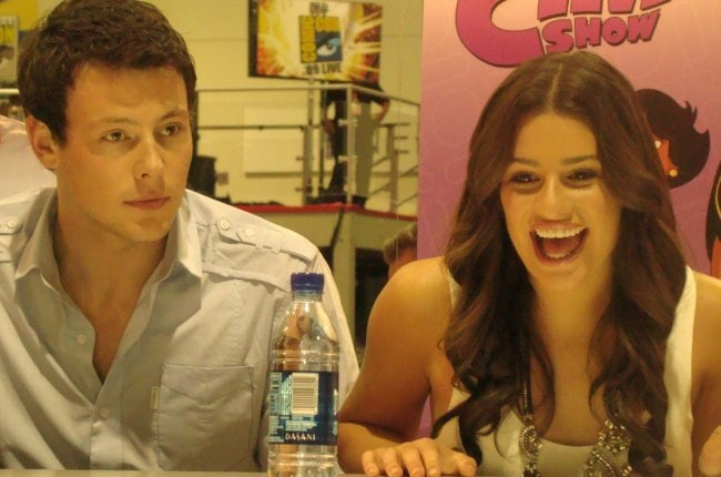 Cory Monteith and Lea Michele as seen in July 2009