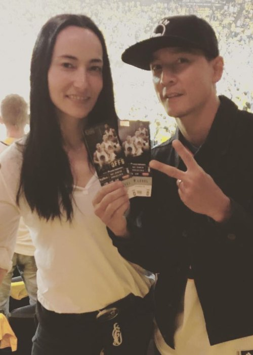 Daniel Wu and Lisa Selesner as seen in June 2017