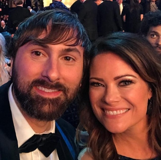 Dave Haywood in a selfie with Kelli Cashiola in January 2018