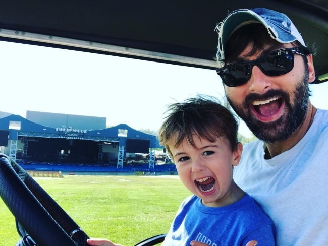 Dave Haywood in a selfie with his son during their morning golf cart ride in September 2018