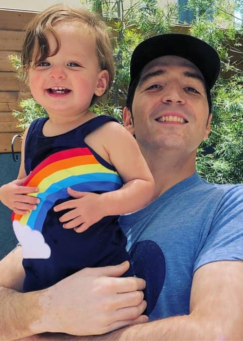 David Dastmalchian with his daughter as seen in June 2018