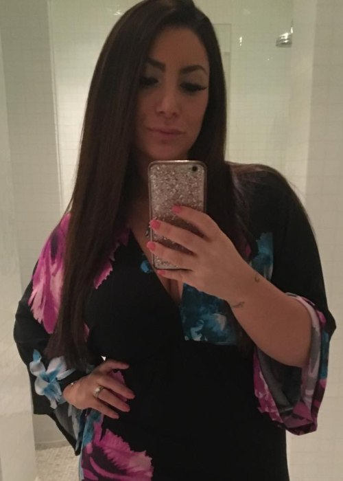 Deena Nicole Cortese in a selfie as seen in April 2018